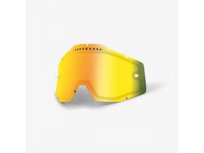 Линза 100% Racecraft/Accuri/Strata Vented Dual Pane Lens Anti-Fog Gold Mirror (51006-009-02) фото 1