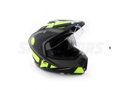 Шлем (мотард) Ataki FF802 Strike Hi-Vis желтый/черный матовый S фото 1