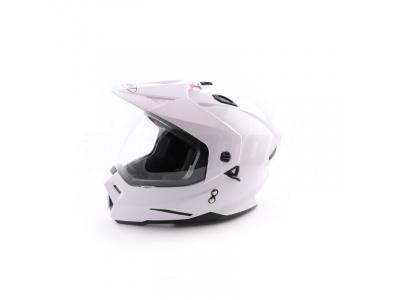 Шлем (мотард) Ataki FF802 Solid белый глянцевый M фото 1