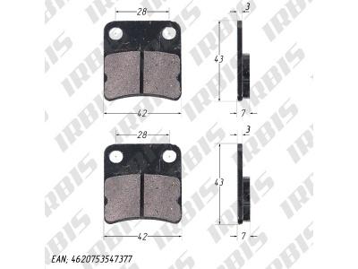 Колодки тормозные дисковые TTR125 (зад.) фото 1