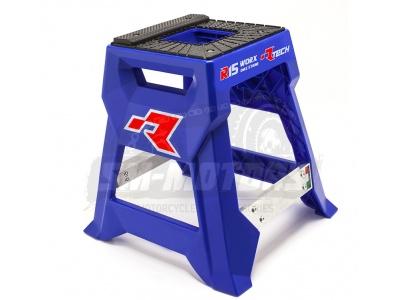 Подставка для кроссового мотоцикла пластиковая R-Tech R15 (до 230 кг, высота 43 см) синяя фото 1