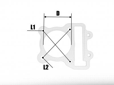 Прокладки ЦПГ (компл. 2шт.) двиг. ZS CB250D-G (воздушный)  фото 3