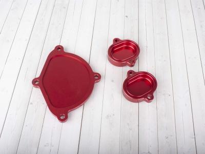 Крышки ГБЦ CNC  YX150/160 красные фото 3