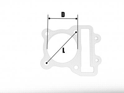 Прокладки ЦПГ (2шт) YX150/160 60мм фото 3