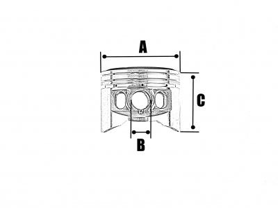 Поршень YX 125 в сборе (52,4-13 мм) фото 5
