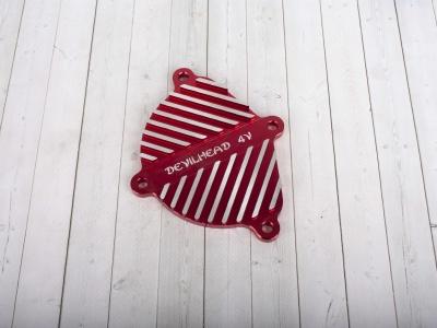 Крышка головки цилиндра левая YX150,160 см3  CNC красная DEVIL фото 1