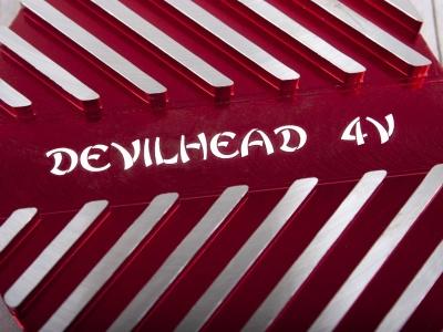 Крышка головки цилиндра левая YX150,160 см3  CNC красная DEVIL фото 3