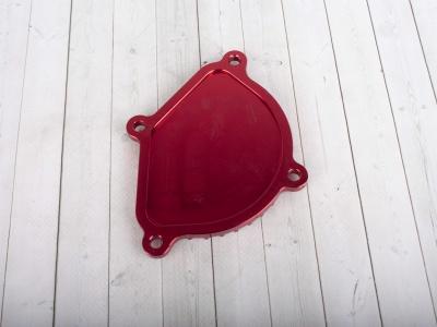 Крышка головки цилиндра левая YX150,160 см3  CNC красная DEVIL фото 5