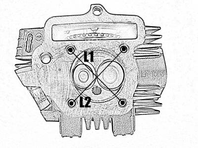 Головка цилиндра двиг. CB250 d-65,5mm в сборе с клапанами и распредвалом фото 7