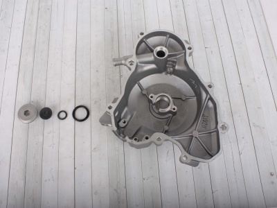 Крышка картера левая (+2 пробки с прокладками) ZS177MM(NC250)/ZS194MQ(NC450) фото 3
