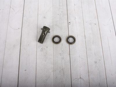 Болт гидравлический М10 (+2 прокладки) фото 1