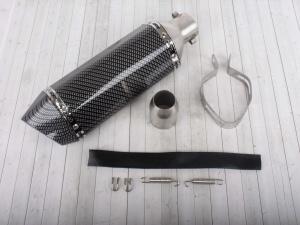 Глушитель AKRAPOVIC #11 (двойной) шестигранный карбон