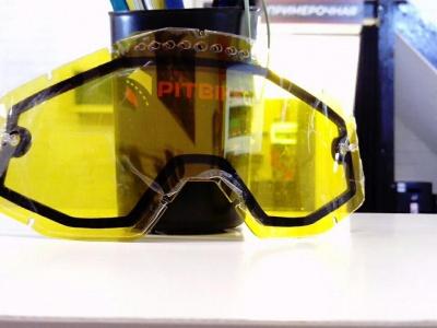 Линза 100% Racecraft/Accuri/Strata Vented Dual Pane Lens Anti-Fog Yellow (51006-004-02) фото 3