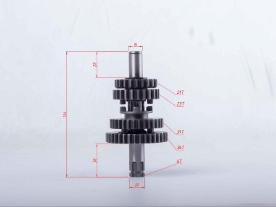 Вал КПП вторичный в сборе двиг. YX140 (кикстартер),150,160 OEM фото 3