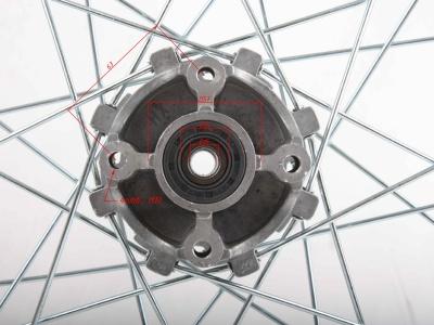 """Диск 18""""х2,15 задний диск. торм. аллюминий KAYO K1 фото 3"""