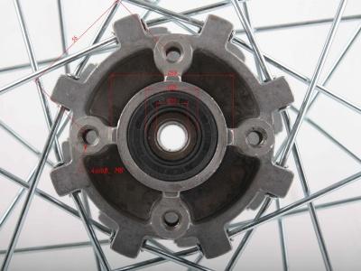"""Диск 18""""х2,15 задний диск. торм. аллюминий KAYO K1 фото 5"""