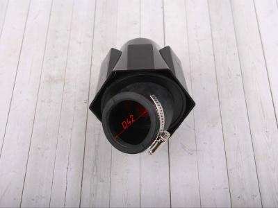 Фильтр воздушный 42мм угловой с черн.крышкой 45 град. фото 3