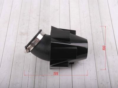 Фильтр воздушный 42мм угловой с черн.крышкой 45 град. фото 5