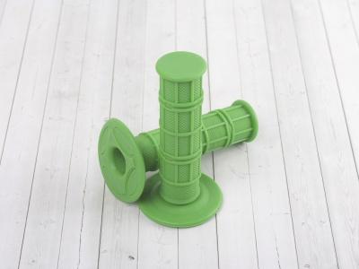 Ручки руля (грипсы) зеленые фото 1