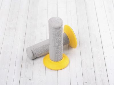 Ручки руля (грипсы) серый/желтый Ariete фото 1