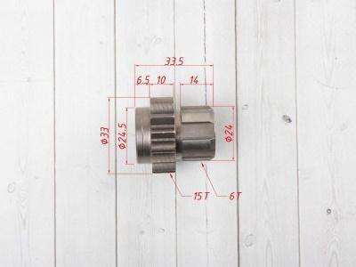 Шестерня привода коленвала (первичный вал) KAYO двиг. ZS155 см3 (P060442) CN фото 5