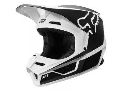 Мотошлем Fox V1 Przm Helmet Black/White M 57-58cm (21773-018-M) фото 3