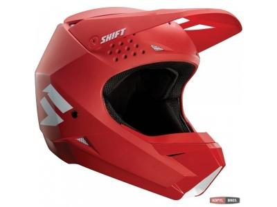 Мотошлем Shift White Helmet Red L (19336-003-L) фото 1
