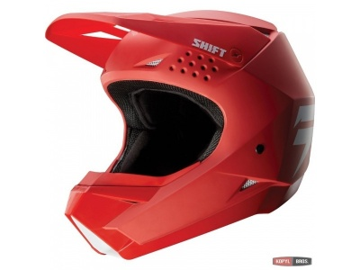 Мотошлем Shift White Helmet Red L (19336-003-L) фото 3