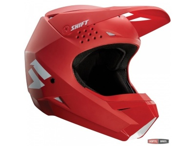 Мотошлем Shift White Helmet Red M (19336-003-M) фото 1