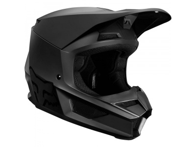 Мотошлем подростковый Fox V1 Matte Youth Helmet Black L 51-52cm (21830-255-L) фото 1