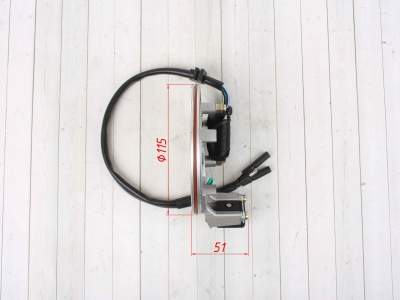 Статор генератора KAYO двиг. YX140см3 CN (1 катушка) фото 7