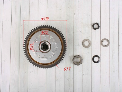 Сцепление (корзина) YX140/150/160 в сборе фото 3