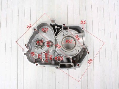 Картер двигателя YX125cc Полуавтомат фото 9