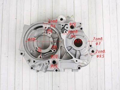 Картер двигателя левый KAYO двиг. ZS155 см3 (P060402) CN фото 3