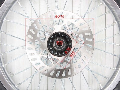 "Колесо 16"" 2.15 переднее в сборе (диск алюмин, покрышка дорожн,торм диск) KAYO фото 7"