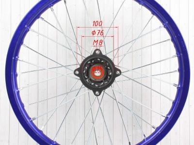 """Диск 17""""х1,6 передний  алюминий KAYO синий фото 5"""