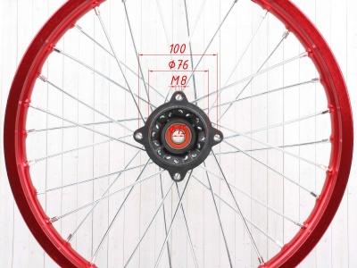 """Диск 17""""х1,6 передний  алюминий KAYO красный фото 5"""