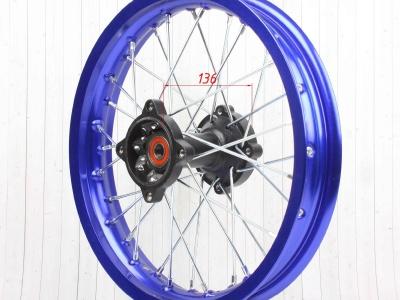 """Диск 14""""х1,85 задний диск. торм. алюминий KAYO синий фото 7"""