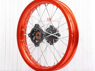 """Диск 14""""х1,85 задний диск. торм. алюминий KAYO оранжевый фото 7"""