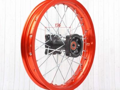 """Диск 14""""х1,85 задний диск. торм. алюминий KAYO оранжевый фото 9"""