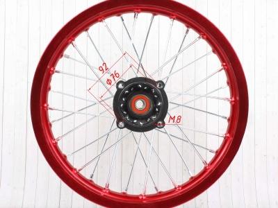 """Диск 14""""х1,85 задний диск. торм. аллюминий KAYO красный фото 11"""