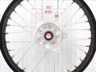 """Диск 18""""х2,15 задний диск. торм. аллюминий KAYO черный фото 5"""