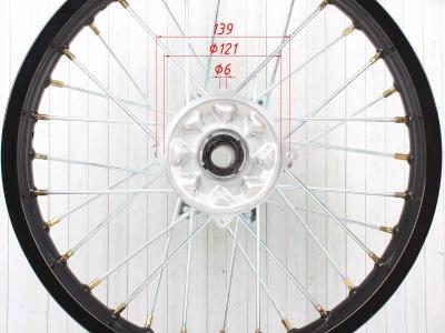 """Диск 18""""х2,15 задний диск. торм. аллюминий KAYO черный фото 11"""