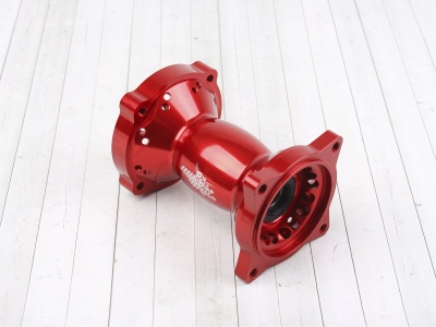 Ступица колеса задняя усиленная CNC КРАСНАЯ фото 1