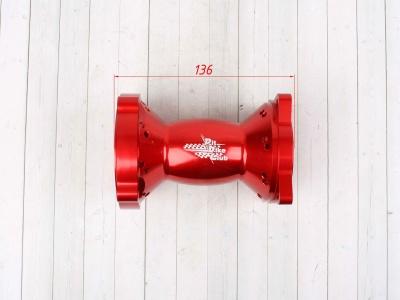 Ступица колеса задняя усиленная CNC КРАСНАЯ фото 7