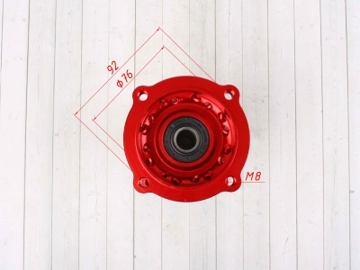 Ступица колеса задняя усиленная CNC КРАСНАЯ фото 9