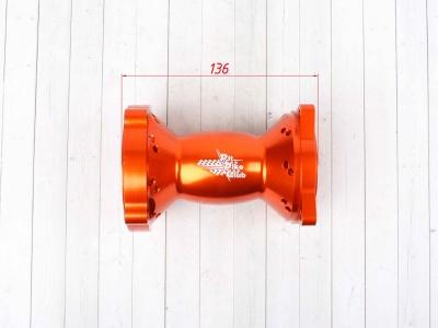Ступица колеса задняя усиленная CNC ОРАНЖЕВАЯ фото 7