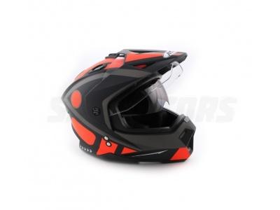 Шлем (мотард) Ataki FF802 Strike оранжевый/черный матовый M фото 1