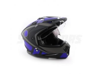 Шлем (мотард) Ataki FF802 Strike синий/черный матовый XL фото 1