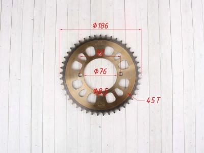 Звезда ведомая стальная 45Т 428 фото 7
